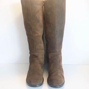 CLARK'S Women's 9.5M Rust Brown Suede Riding Boots